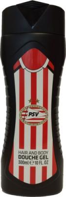 Douchegel hair and body PSV rood/wit: 300 ml